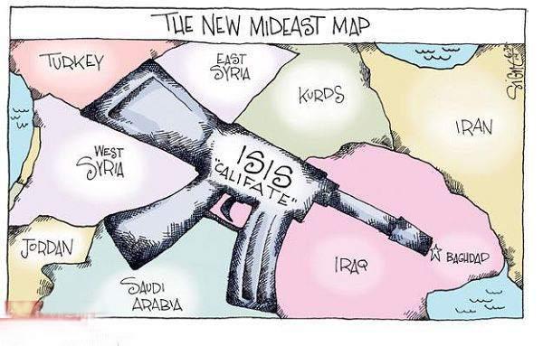 新中东地图-高骥中文网